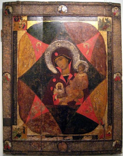 Старинная икона Неопалимая Купина, продать, цена в Киеве, Харькове, Одессе